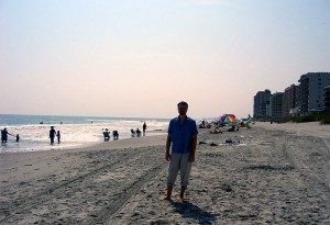 Rob on the beach