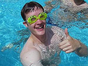 Adam in goggles