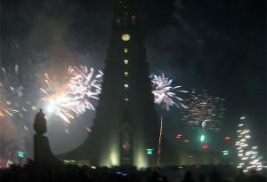Fireworks in Reykjavik