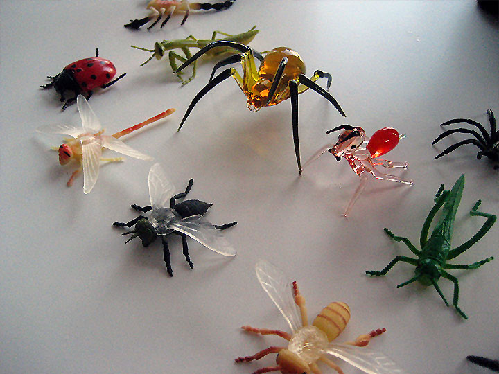 Wedding Cake Topper: Glass Insects