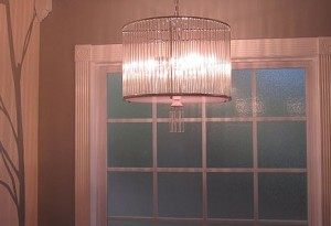 Chandelier in the Bathroom