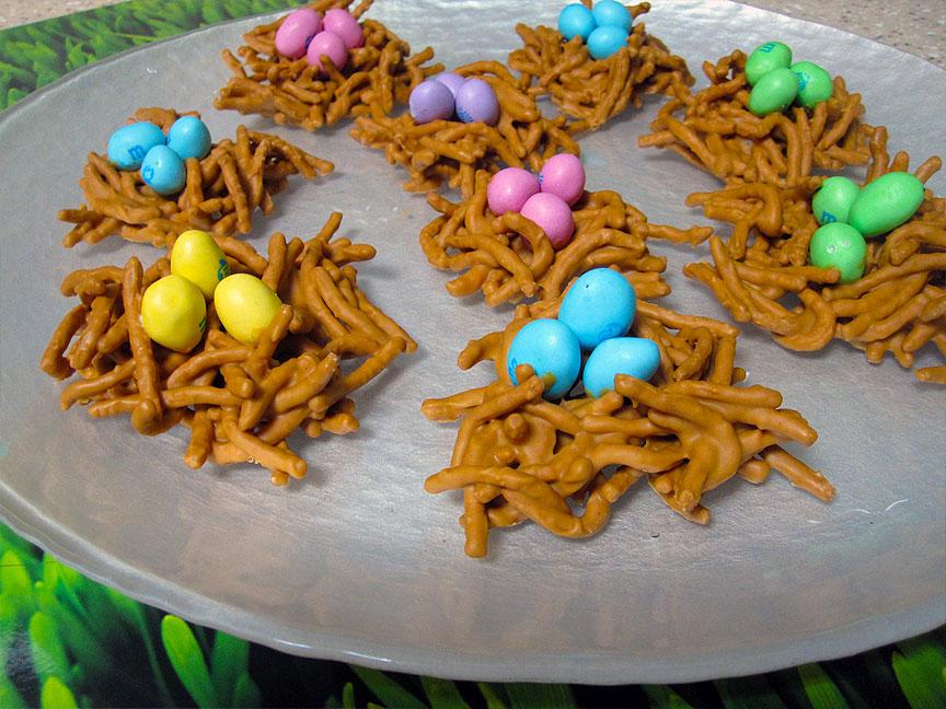 Butterscotch Bird's Nest No-Bake Cookies