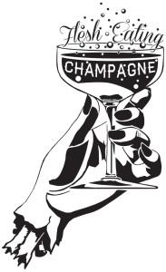 Flesh Eating Champagne Logo