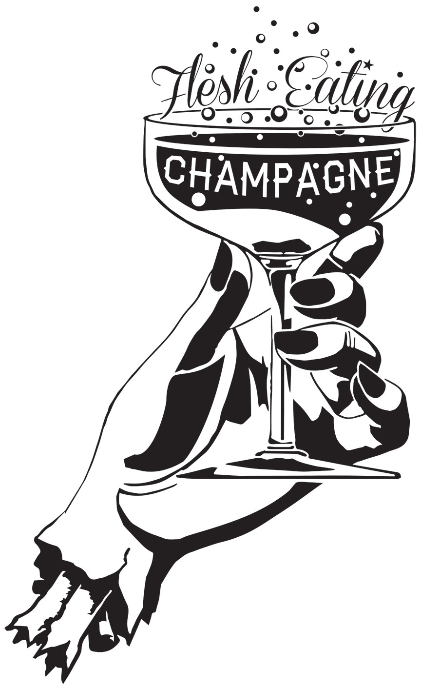 Flesh Eating Champagne Logo